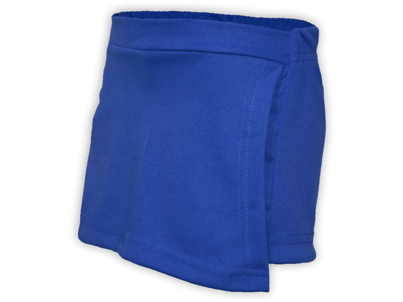 Short saia azul royal perfil