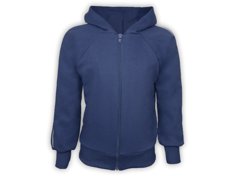 Frente blusa de moletom azul marinho tamanho junvenil