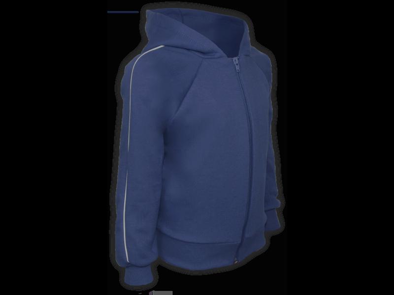 Perfil blusa de moletom azul marinho tamanho juvenil