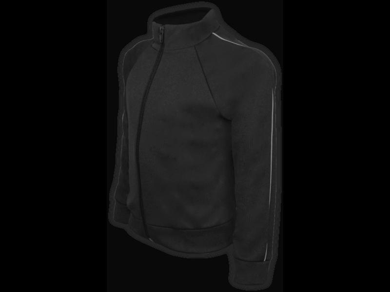 perfil blusa helanca preta tamanho infantil