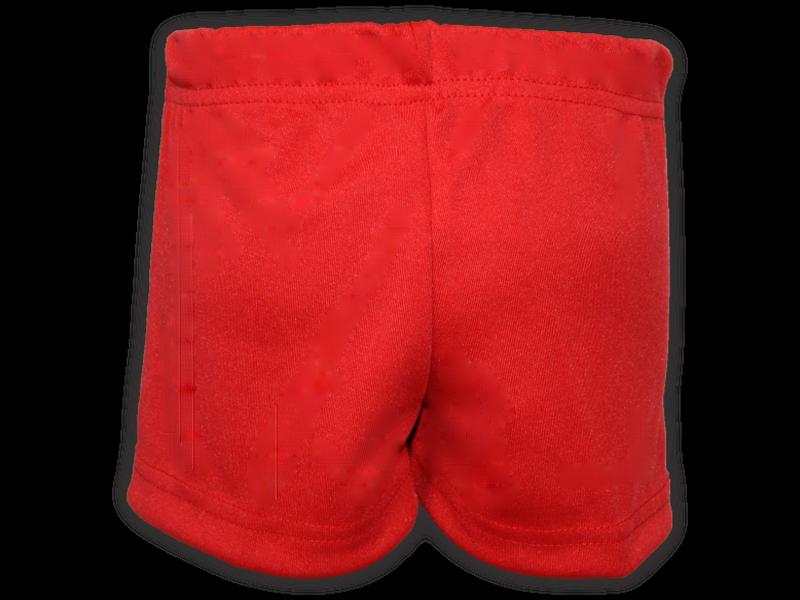 Short saia vermelho trás
