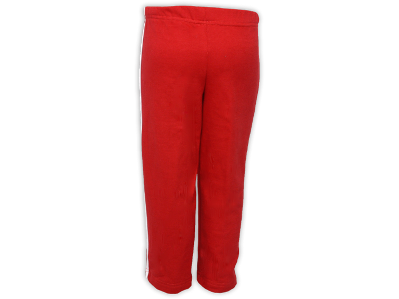 Foto de trás calça de moletom vermelha tamanho juvenil