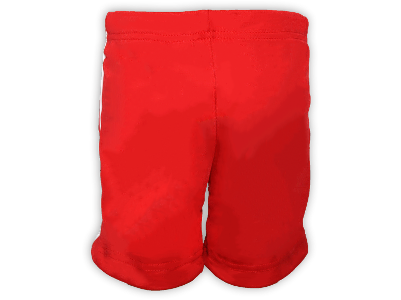 Bermuda Helanca vermelha trás