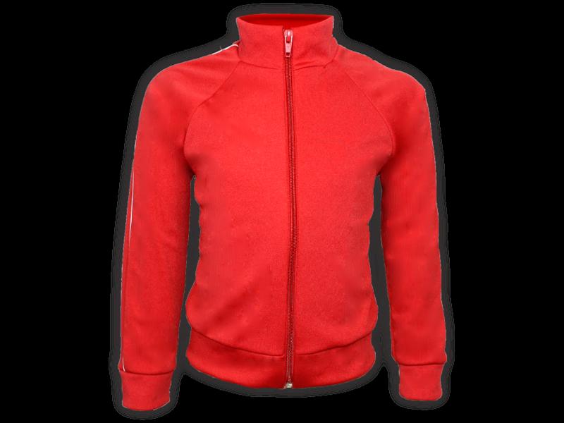 frente blusa helanca vermelha tamanho infantil