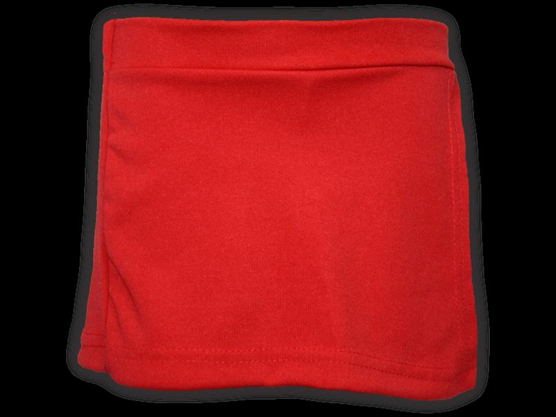 Short saia vermelho frente