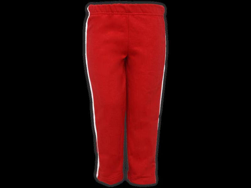 Foto de frente calça de moletom vermelha tamanho infantil