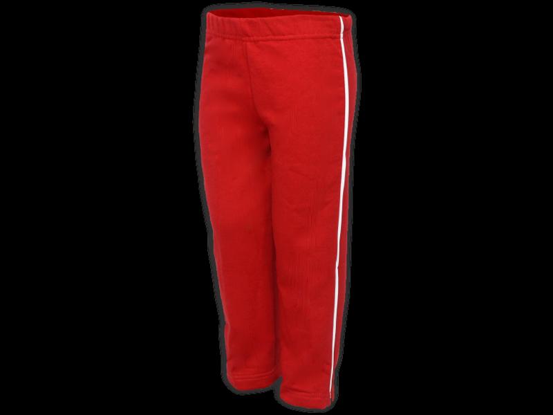 Foto de perfil calça de moletom vermelha tamanho infantil