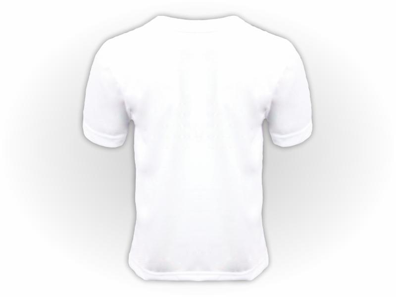 Camiseta branca costas