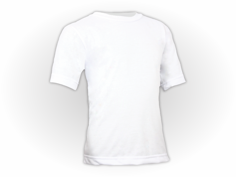 Camiseta Lisa Algodão Manga Curta Infantil