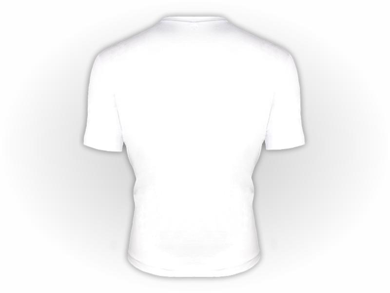Camiseta manga curta branca costas