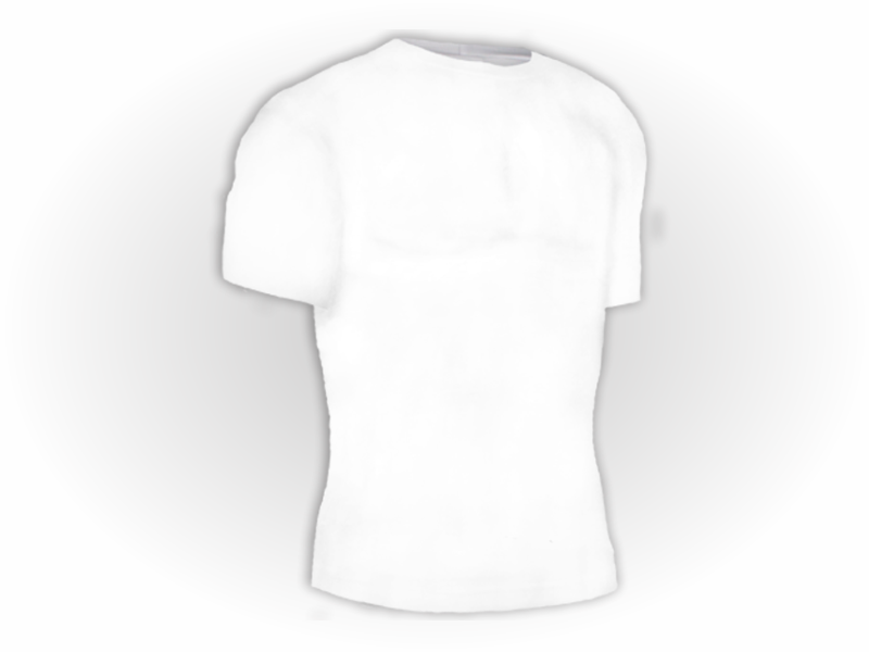 Camiseta manga curta branca perfil
