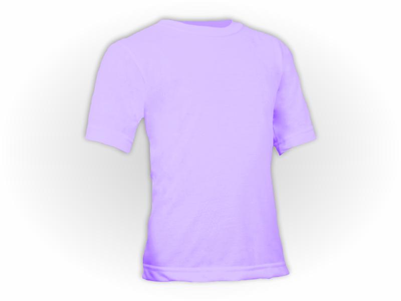 Camiseta lilás perfil