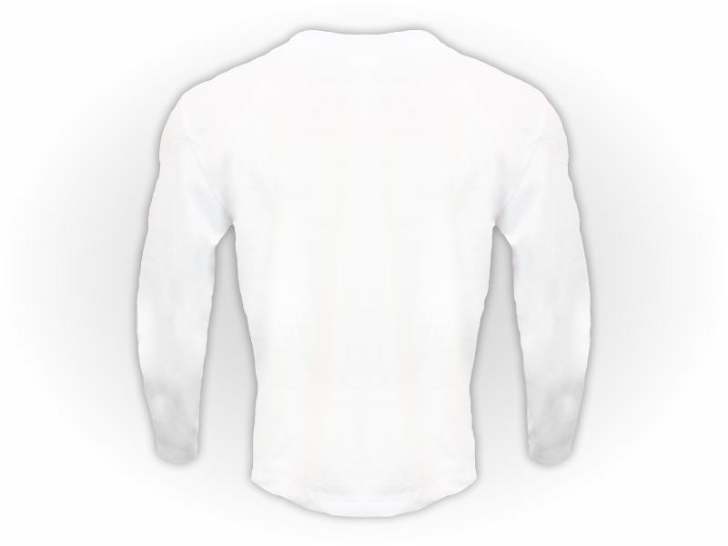 camiseta manga longa branca costas
