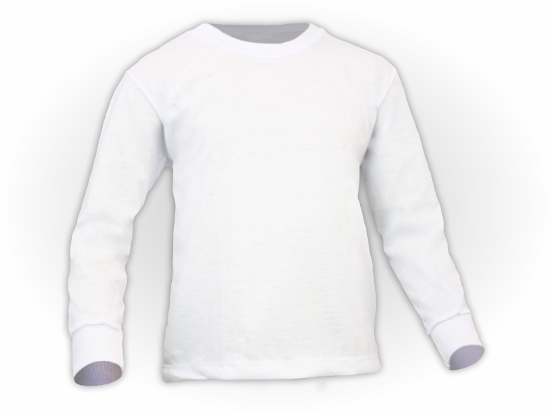 camiseta manga longa branca frente