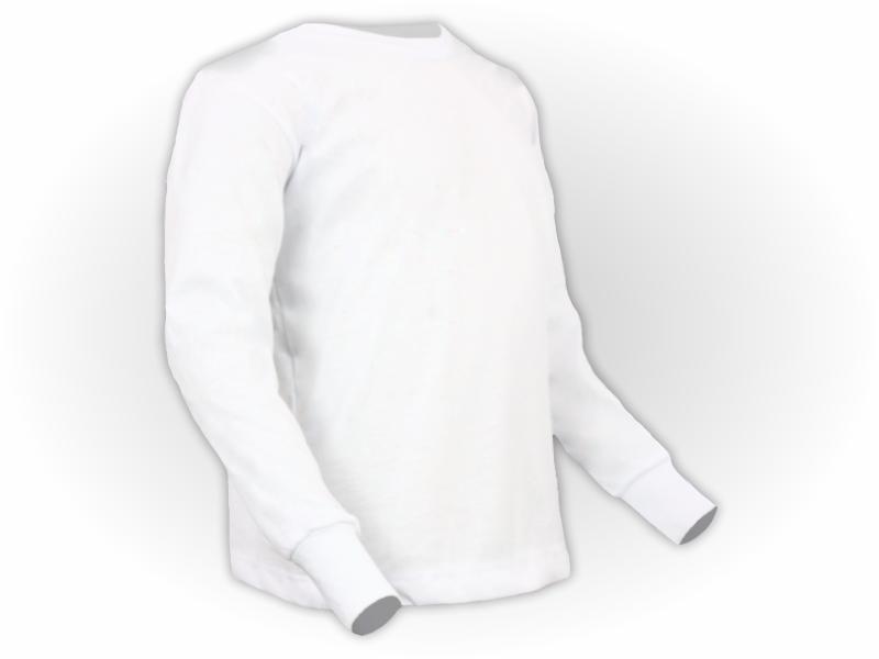 camiseta manga longa branca perfil