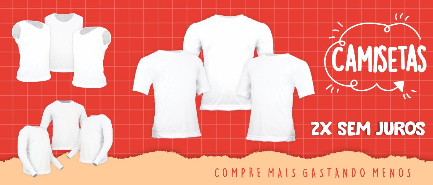camisetas na cor branca