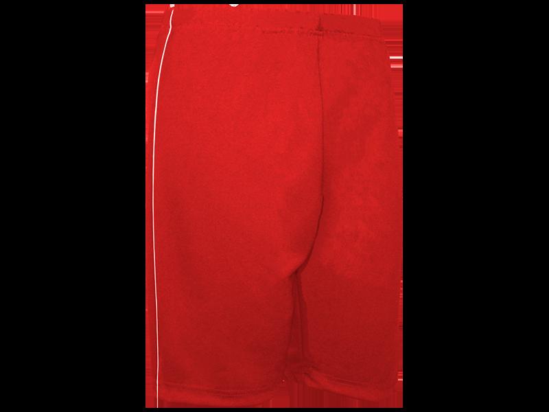 Bermuda Helanca vermelha perfil