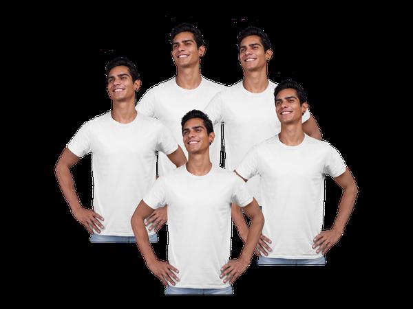 5 Camisetas Brancas Malha P/ Sublimação Poliéster Atacado