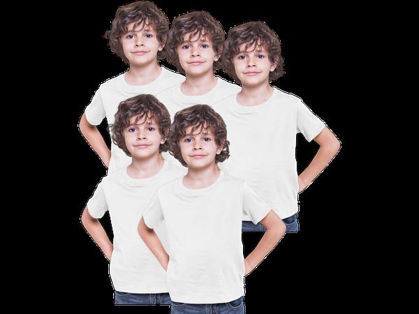 5 Camisetas Infantil Lisa 100% Poliéster Camisa Sublimação