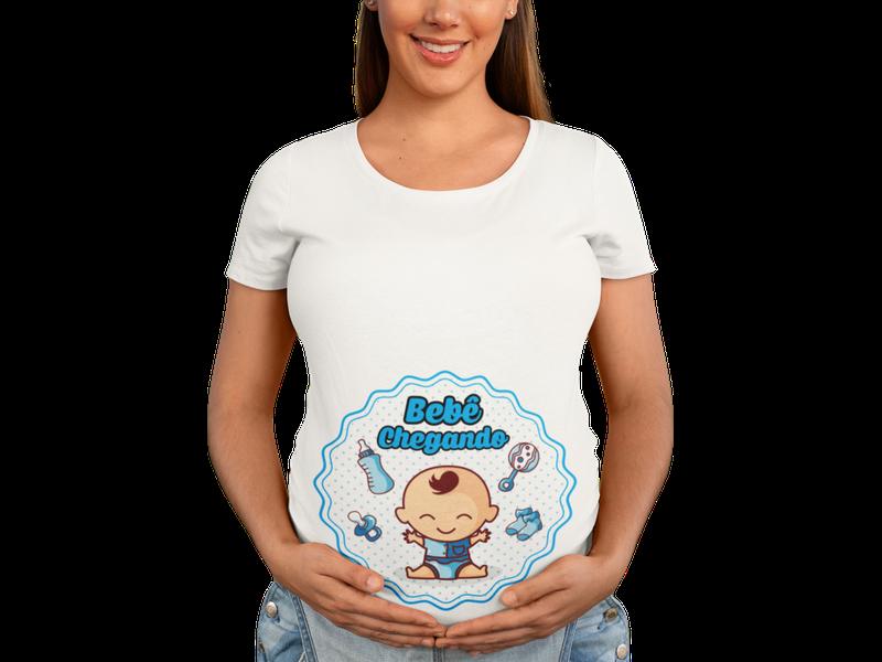 Bata Baby Look Mãe Gestante Chá De Bebe Chegando Divertida