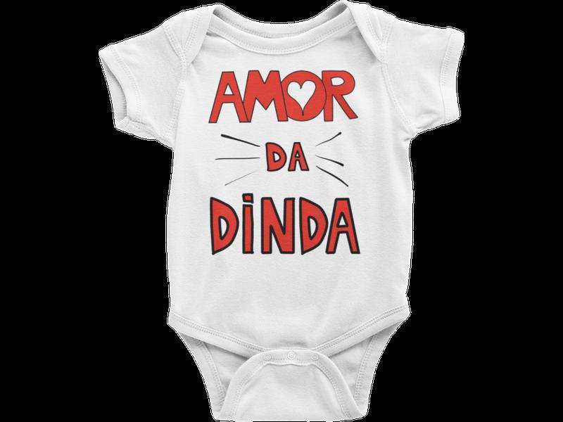 Body Bebê Infantil Amor da Dinda