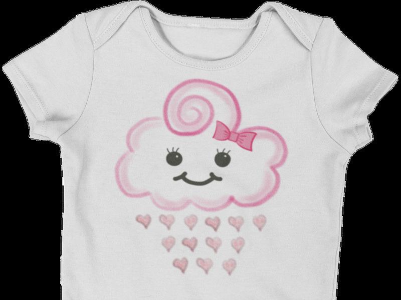 Body Bebê Infantil Chuva de Amor Bênçãos