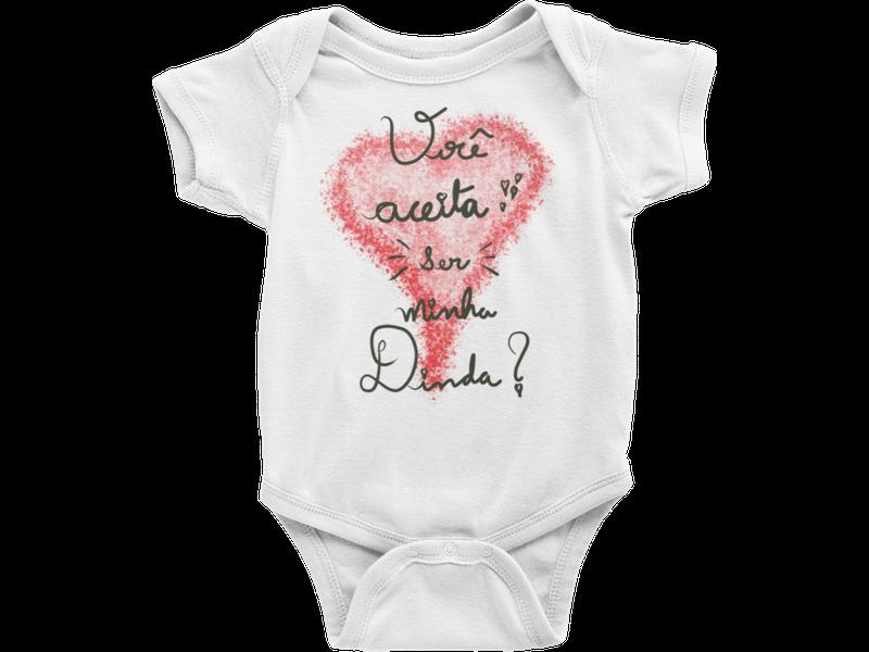 Body Bebê Infantil Você Aceita Ser Minha Dinda
