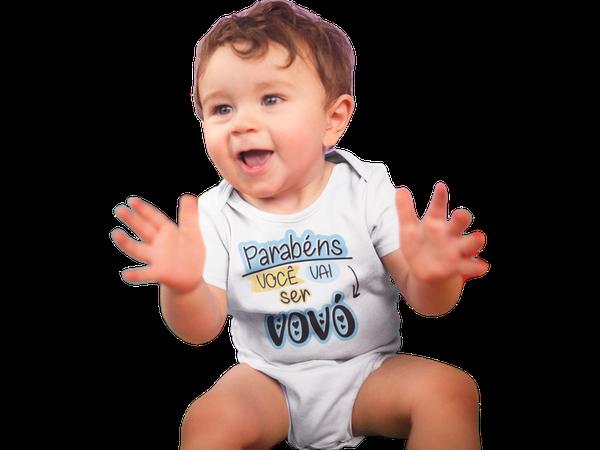Body De Bebê Divertido Parabéns você vai Ser Vovó Recém Nascido