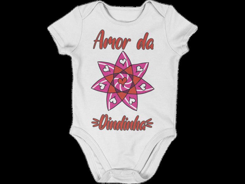 Body De Bebê infantil Amor da Dindinha