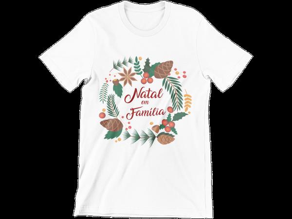 Camiseta Adulto Feliz Natal Boas Festas