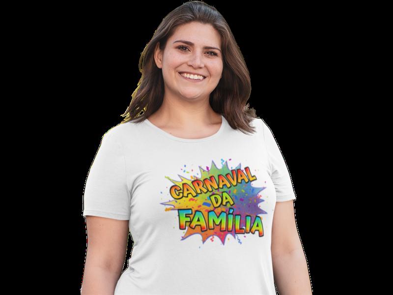 Camiseta Feminina Carnaval em Família 2021