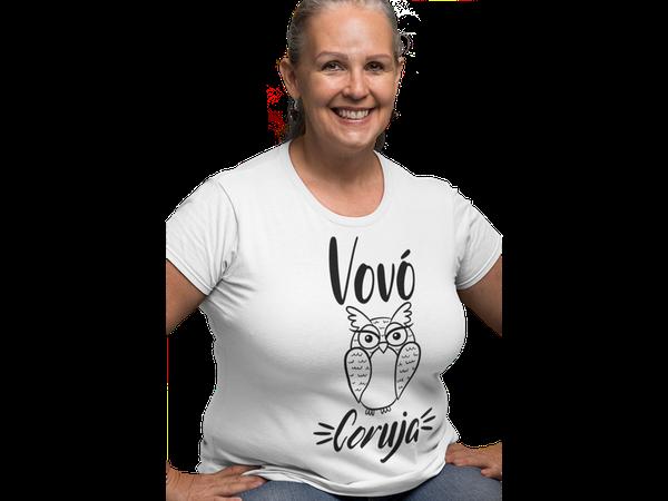 Camiseta Feminina Vovó Coruja Frases Vó