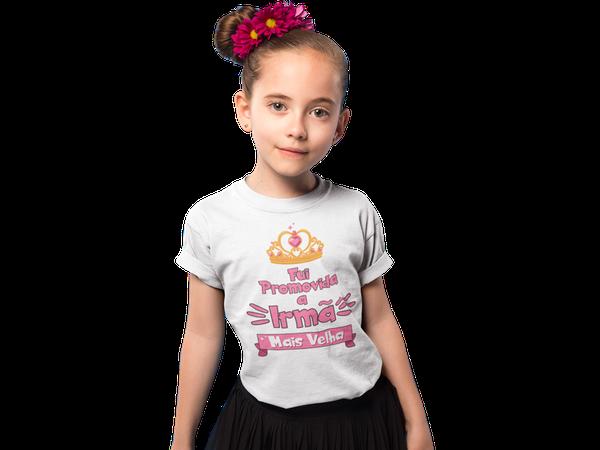 Camiseta Fui Promovida a Irmã Mais Velha infantil