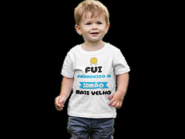 Camiseta Fui Promovido a Irmão Mais Velho Infantil