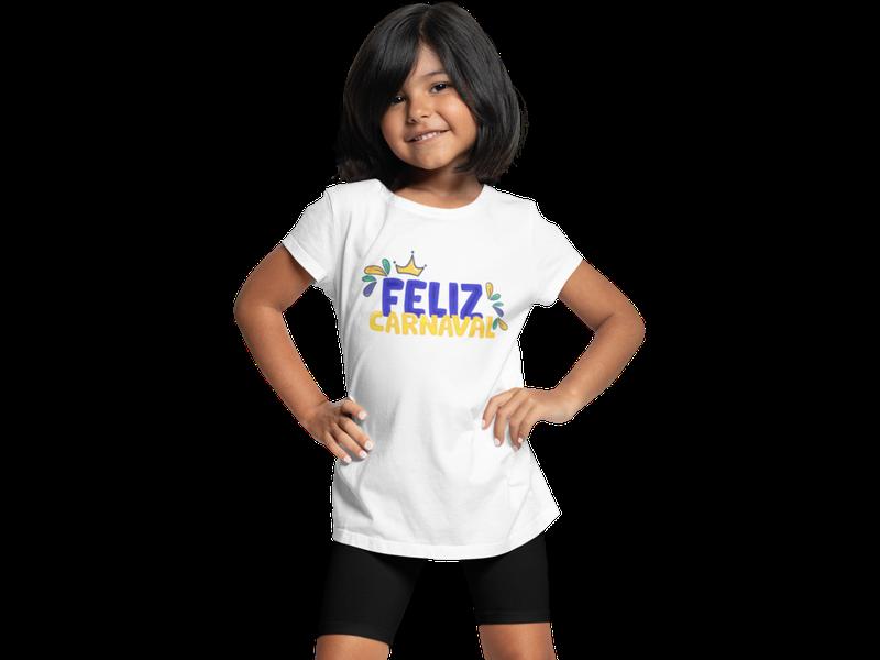 Camiseta Infantil Carnaval FELIZ CARNAVAL