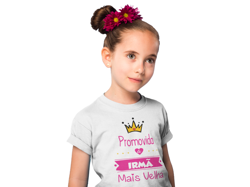 Camiseta Juvenil Promovida a Irmã Mais Velha