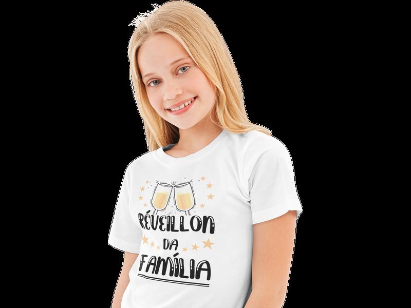 Camiseta Infantil Réveillon da Família