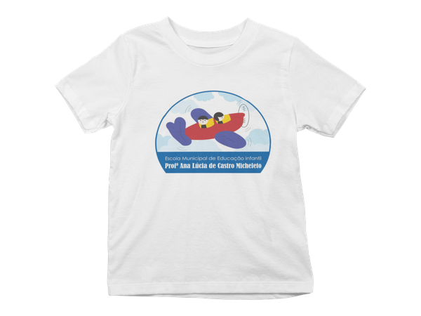 Camiseta Manga Curta Infantil Escola Ana Lúcia de Castro Micheleto