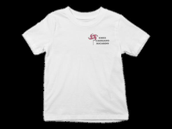 Camiseta Manga Curta Infantil Escola Cassiano Ricardo