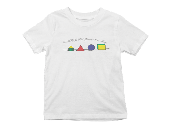 Camiseta Manga Curta Infantil Escola Zenaide