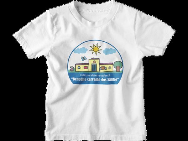 Camiseta Manga Curta Infantil Escola Benedito Carvalho dos Santos