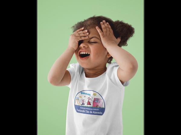 Camiseta Manga Curta Infantil Escola Fernando Tão de Azevedo