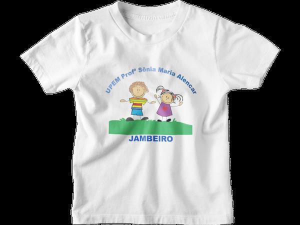 Camiseta Manga Curta Infantil Escola Sonia Maria Alencar de JAMBEIRO
