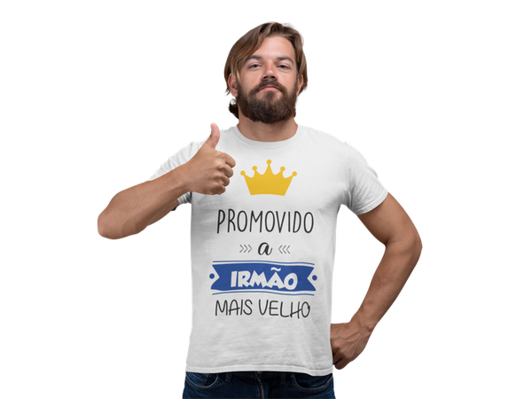 Camiseta Promovido a Irmão mais velho Adulto