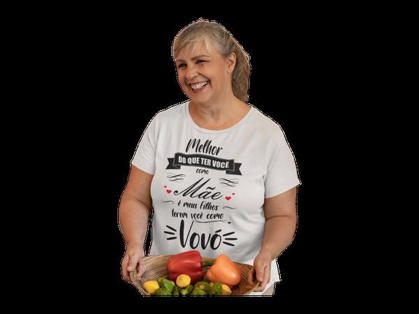 Camiseta Vovó Dia Das Mães Frase Avó Nomes Presente