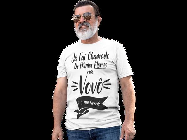 Camiseta Vovô Presente Dia Dos Pais Frase Avô Nomes