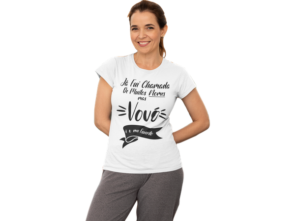 Camiseta Vovó presente dia das mães frase Avó nomes
