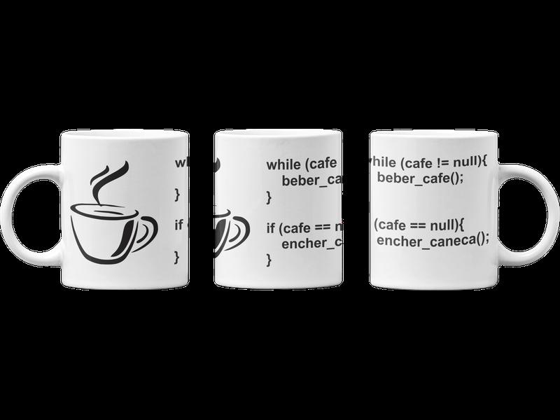 Caneca Programador TI Java programação café