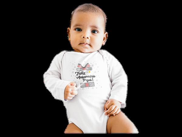 Body Bebê Infantil Feliz Aniversário Papai Menino Menina
