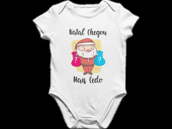Body Bebê Infantil Meu Primeiro Natal Feliz Natal Chegou mais Cedo